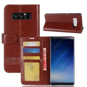 Samsung Galaxy Note 8 - etui na telefon i dokumenty - CH Brązowe