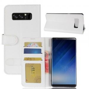 Samsung Galaxy Note 8 - etui na telefon i dokumenty - CH Białe