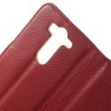 LG G3 S Portfel Etui – Litchi Czerwony
