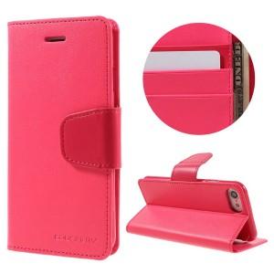 Apple iPhone 7 / 8 - etui na telefon i dokumenty - Sonata Różowe