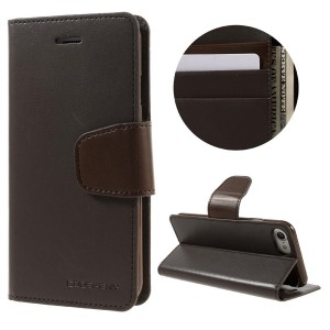 Apple iPhone 7 / 8 - etui na telefon i dokumenty - Sonata Ciemnobrązowym