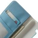 LG G3 S Portfel Etui – Litchi Niebieski
