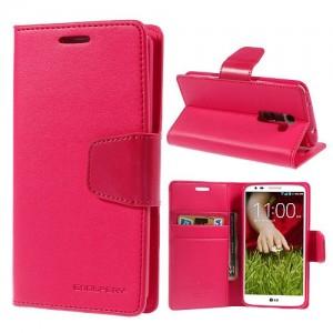 LG G2 - etui na telefon i dokumenty - Sonata Goospery ciemnoróżowy