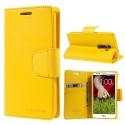 LG G2 Portfel Etui – Goospery Sonata Żółty
