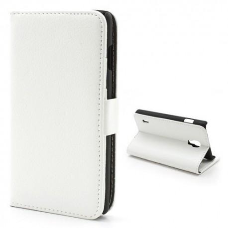 LG Optimus L7 II P710 - etui na telefon i dokumenty - Litchi białe