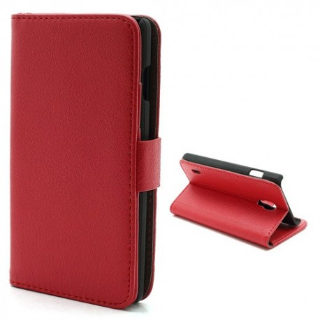 LG Optimus L7 II P710 - etui na telefon i dokumenty - Litchi czerwone