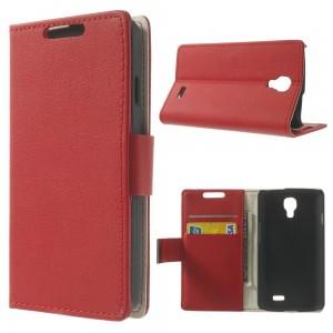 LG F70 - etui na telefon i dokumenty - Litchi czerwone