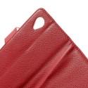 LG Nexus 5 Portfel Etui – Litchi Czerwony