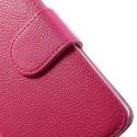 LG Nexus 5 Portfel Etui – Litchi Różowy