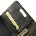 LG L70 Ochronne Portfel Etui – Litchi Czarne