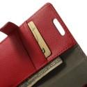 LG L70 Ochronne Portfel Etui – Litchi Czerwony
