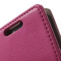 LG L70 Ochronne Portfel Etui – Litchi Różowy