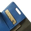 LG L70 Ochronne Portfel Etui – Litchi Niebieski