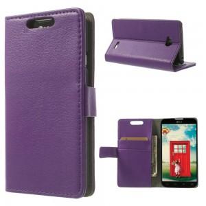 LG L70 - etui na telefon i dokumenty - Litchi purpurowe