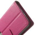 LG G2 Mini Portfel Etui – Litchi Różowy