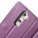 LG G2 Mini Portfel Etui – Litchi Purpurowy