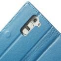 LG G2 Mini Portfel Etui – Litchi Niebieski