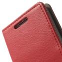 LG G2 Mini Portfel Etui – Litchi Czerwony
