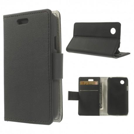 LG L40 - etui na telefon i dokumenty - Folio czarne