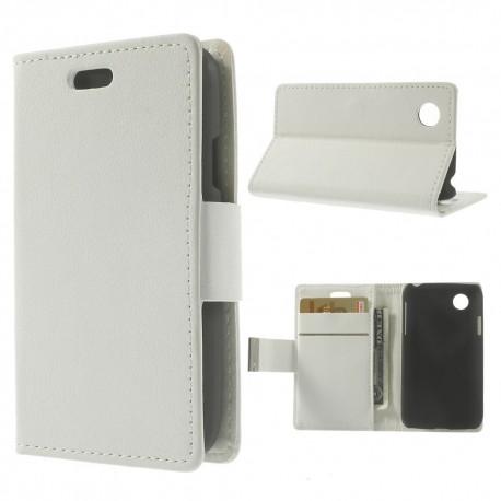 LG L40 - etui na telefon i dokumenty - Folio białe