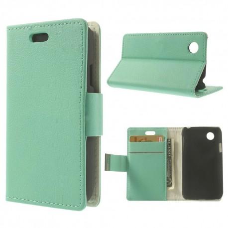 LG L40 - etui na telefon i dokumenty - Folio cyjan