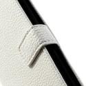LG G2 Ochronne Portfel Etui – Litchi Białe