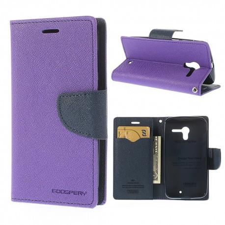 Motorola Moto X - etui na telefon i dokumenty - Fancy purpurowe