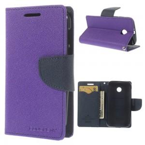 Motorola Moto E - etui na telefon i dokumenty - Fancy purpurowe