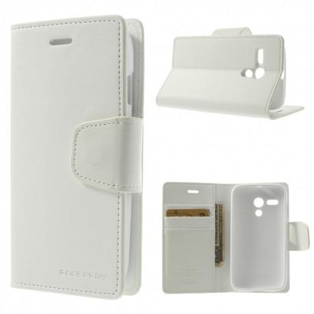 Motorola Moto G - etui na telefon i dokumenty - Sonata białe