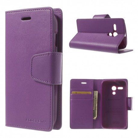 Motorola Moto G - etui na telefon i dokumenty - Sonata purpurowe