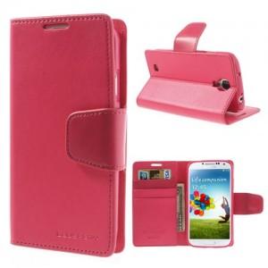 Samsung Galaxy S4 - etui na telefon i dokumenty - Sonata ciemnoróżowa