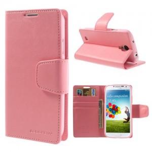 Samsung Galaxy S4 - etui na telefon i dokumenty - Sonata różowe