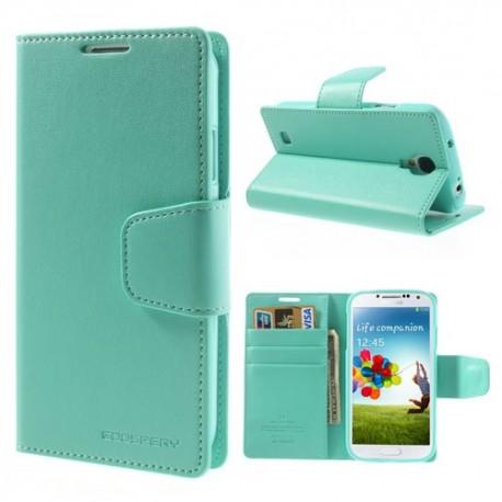 Samsung Galaxy S4 - etui na telefon i dokumenty - Sonata cyjan