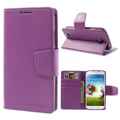 Samsung Galaxy S4 - etui na telefon i dokumenty - Sonata purpurowe