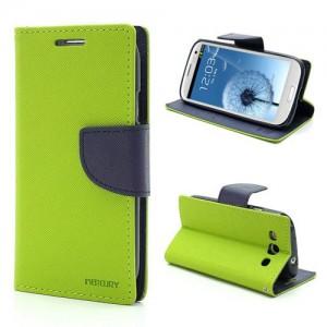 Samsung Galaxy S3 - etui na telefon i dokumenty - Fancy zielone