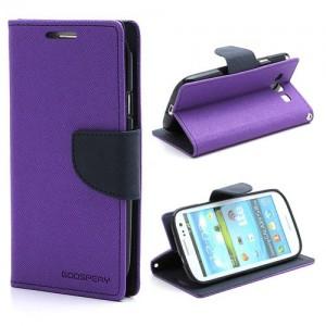 Samsung Galaxy S3 - etui na telefon i dokumenty - Fancy purpurowe