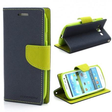 Samsung Galaxy S3 - etui na telefon i dokumenty - Fancy niebieskie V