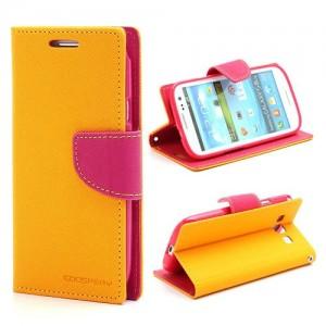 Samsung Galaxy S3 - etui na telefon i dokumenty - Fancy żółte