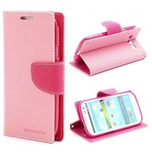 Samsung Galaxy S3 - etui na telefon i dokumenty - Fancy różowe