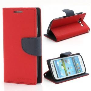 Samsung Galaxy S3 - etui na telefon i dokumenty - Fancy czerwone