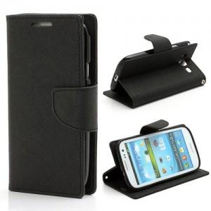 Samsung Galaxy S3 - etui na telefon i dokumenty - Fancy czarne
