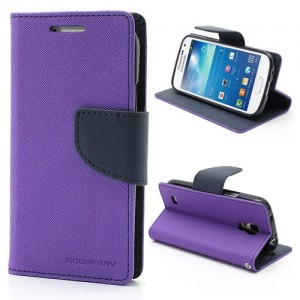 Samsung Galaxy S4 Mini - etui na telefon i dokumenty - Fancy purpurowe