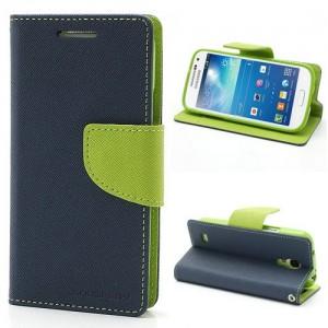 Samsung Galaxy S4 Mini - etui na telefon i dokumenty - Fancy niebieskie