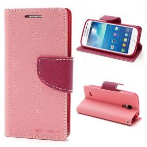 Samsung Galaxy S4 Mini - etui na telefon i dokumenty - Fancy różowe