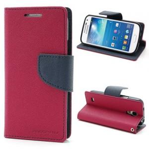 Samsung Galaxy S4 Mini - etui na telefon i dokumenty - Fancy ciemnoróżowe