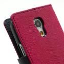 Samsung Galaxy S4 Mini Portfel Etui – Fancy Ciemny Różowy