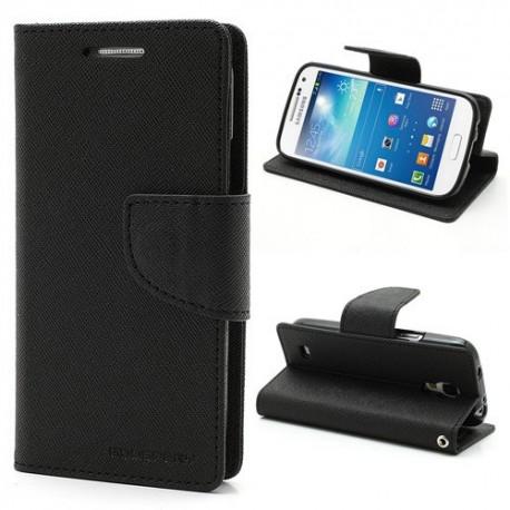 Samsung Galaxy S4 Mini - etui na telefon i dokumenty - Fancy czarne
