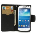 Samsung Galaxy S4 Mini Portfel Etui – Fancy Czarne