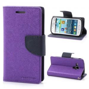 Samsung Galaxy Trend / Trend Plus - etui na telefon i dokumenty - Fancy purpurowe