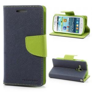 Samsung Galaxy Trend / Trend Plus - etui na telefon i dokumenty - Fancy niebieskie